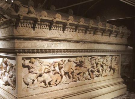 سنگ قبر اسکندر مقدونی