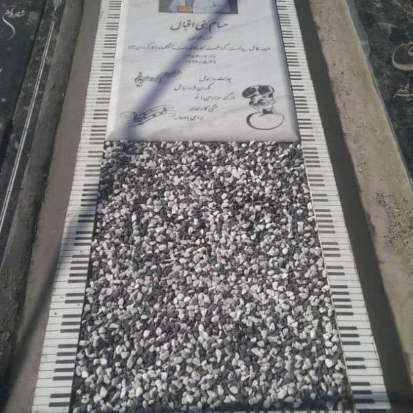 سنگ قبر طرح پیانو سفارشی