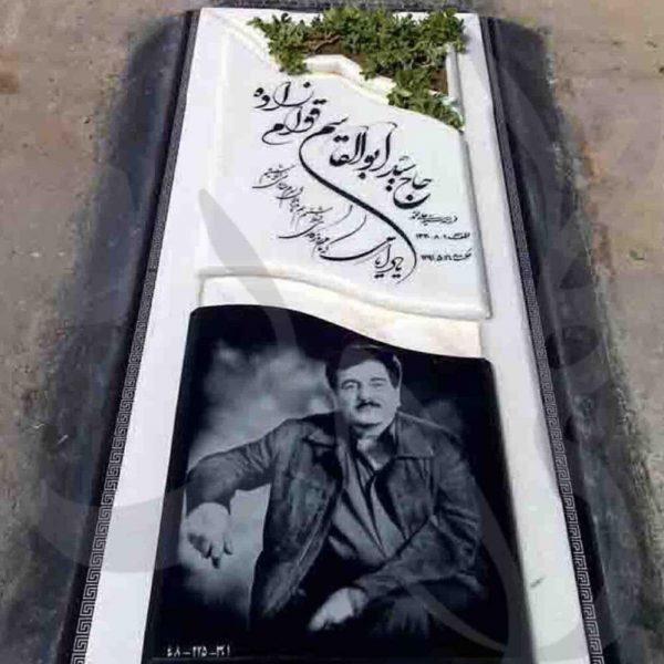سنگ قبر سفارشی با عکس متوفی