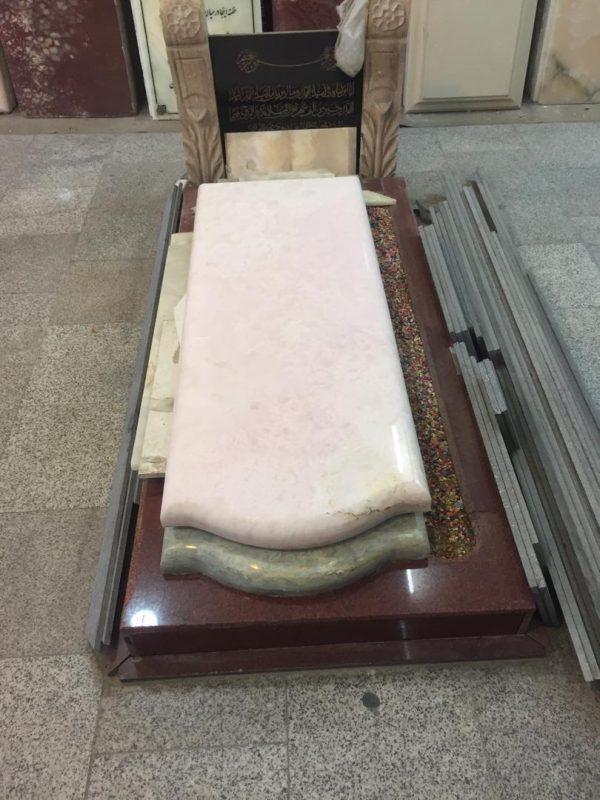 سنگ قبر مرمر صورتی دارای کیفیت بالا