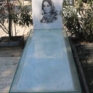 سنگ قبر مرمر سفید قطر4 سانت